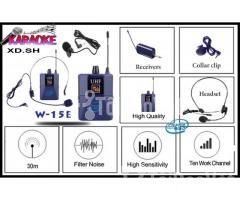 Bộ 2 Micro không dây Đeo tai và Cài áo Universal XD-SH W-15E UHF - Hình ảnh 5/6