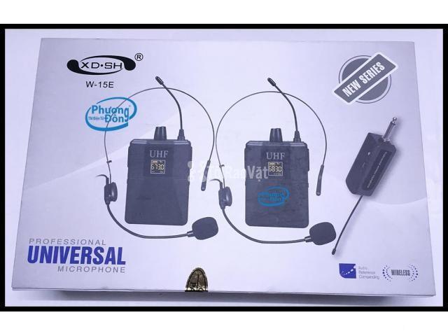 Bộ 2 Micro không dây Đeo tai và Cài áo Universal XD-SH W-15E UHF - 6/6
