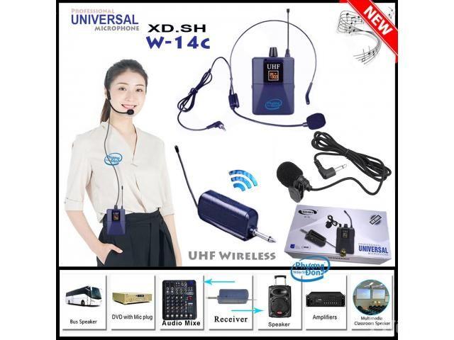 Bộ Micro không dây Đeo tai - Cài áo Universal XD-SH W-14C UHF - 1/6
