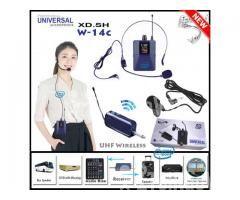 Bộ Micro không dây Đeo tai - Cài áo Universal XD-SH W-14C UHF - Hình ảnh 1/6