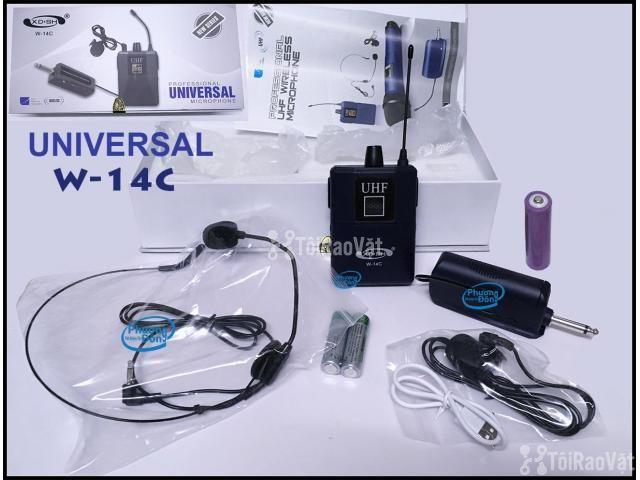 Bộ Micro không dây Đeo tai - Cài áo Universal XD-SH W-14C UHF - 2/6