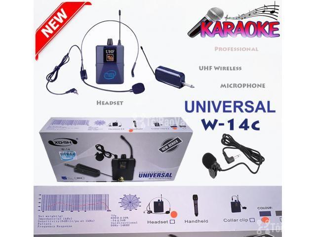 Bộ Micro không dây Đeo tai - Cài áo Universal XD-SH W-14C UHF - 4/6