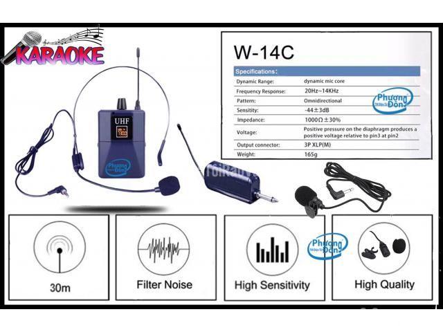 Bộ Micro không dây Đeo tai - Cài áo Universal XD-SH W-14C UHF - 5/6