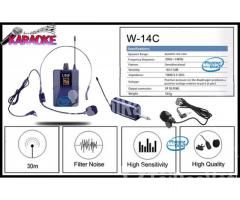 Bộ Micro không dây Đeo tai - Cài áo Universal XD-SH W-14C UHF - Hình ảnh 5/6
