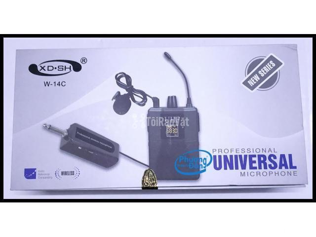 Bộ Micro không dây Đeo tai - Cài áo Universal XD-SH W-14C UHF - 6/6