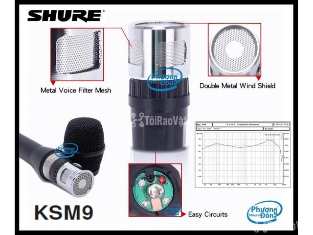 Đầu âm thanh Củ micro Shure KSM9 sản phẩm đỉnh cao - 3/4