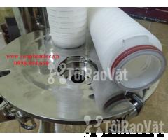 Cốc lọc 2 lõi oring 226 nhọn 20 inch chất liệu inox 316 dùng lọc dược  - Hình ảnh 2/2