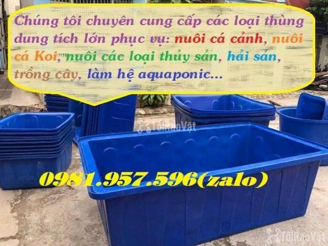 Thùng nhựa nuôi hải sản,thùng nuôi cá koi, thùng nuôi cá cảnh - 2/3