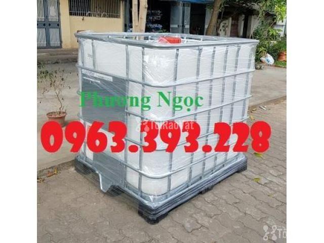 Tank nhựa 1 khối nhập khẩu, bồn 1000L chứa hóa chất, thùng nhựa đựng n - 2/4