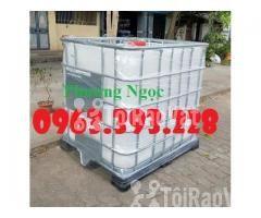 Tank nhựa 1 khối nhập khẩu, bồn 1000L chứa hóa chất, thùng nhựa đựng n - Hình ảnh 2/4