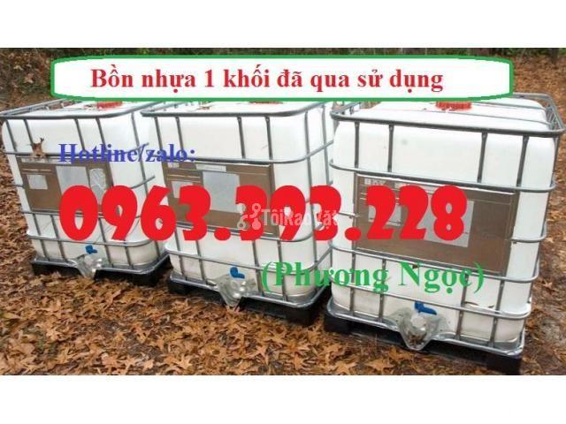 Tank nhựa 1 khối nhập khẩu, bồn 1000L chứa hóa chất, thùng nhựa đựng n - 3/4