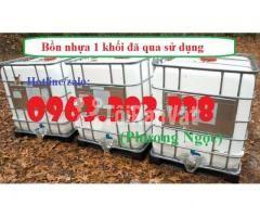 Tank nhựa 1 khối nhập khẩu, bồn 1000L chứa hóa chất, thùng nhựa đựng n - Hình ảnh 3/4