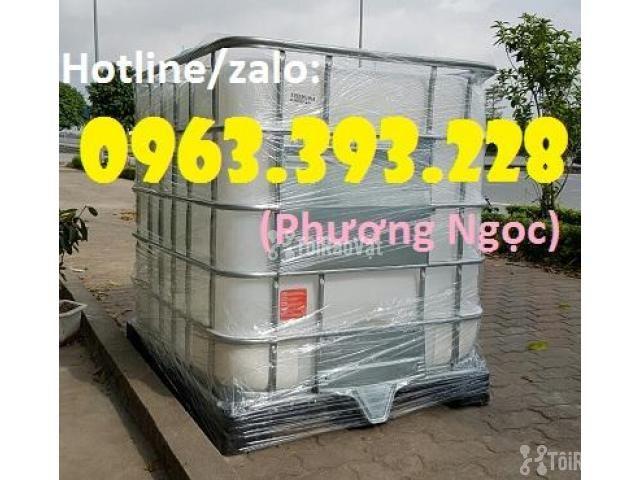 Tank nhựa 1 khối nhập khẩu, bồn 1000L chứa hóa chất, thùng nhựa đựng n - 4/4