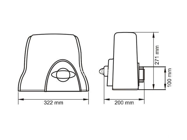 Moto Cổng Trượt Pass 800- Chính Hãng Gibidi (Italy) - 6/6