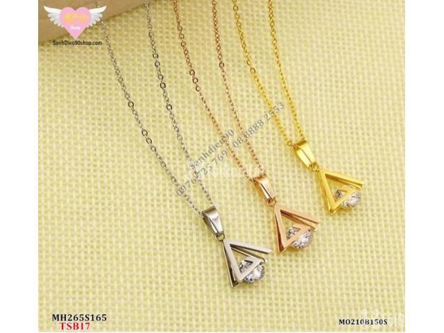 Set DC + BT titan nữ mặt tam giác kết đá mã BTS17 - 3/6