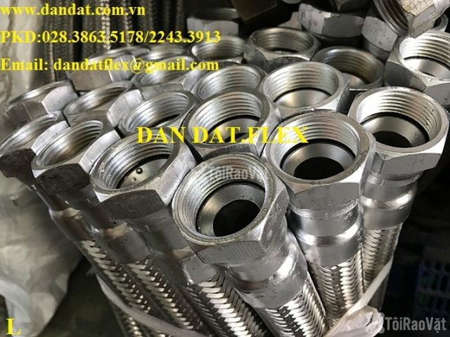 "Ống mềm đầu rencon inox 304 lõm 1.1/2"" x 300 - KHỚP NỐI MỀM INOX - 3/6"