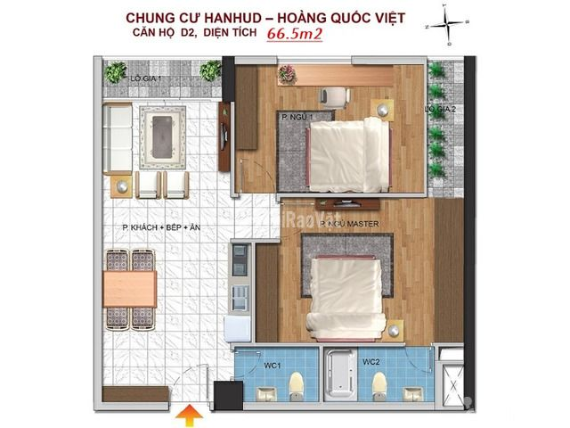 Bán chung cư Giá rẻ, đường Hoàng Quốc Việt, giá từ 26 triệu/m2, thiết  - 3/6