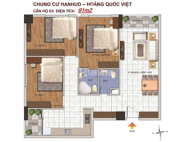 Bán chung cư Giá rẻ, đường Hoàng Quốc Việt, giá từ 26 triệu/m2, thiết  - 4/6