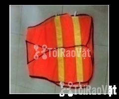 Bán áo phản quang vải lưới cam 2 sọc thun chất lương cao