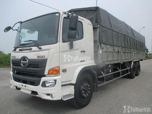 Bán xe tải thùng mui bạt Hino 3 chân 14 tấn  - 1/3