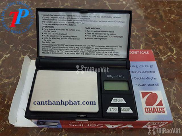 Cân điện tử bỏ túi 100g, cân điện tử YA102 Ohaus - 1/1