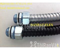 """Ống thép luồn dây điện bọc nhựa pvc 1/2"""", khớp chống rung inox, lưới  - Hình ảnh 1/6"""