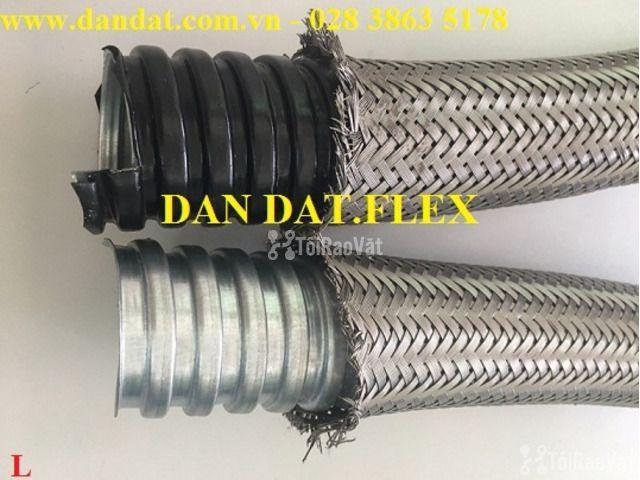 """Ống thép luồn dây điện bọc nhựa pvc 1/2"""", khớp chống rung inox, lưới  - 2/6"""