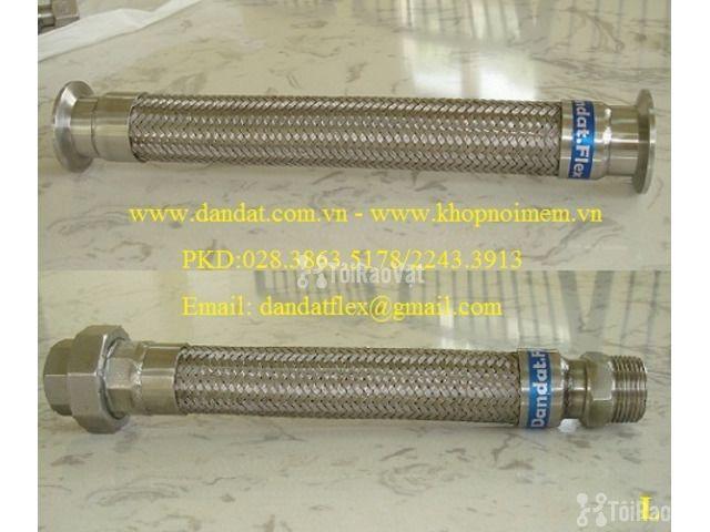 """Ống thép luồn dây điện bọc nhựa pvc 1/2"""", khớp chống rung inox, lưới  - 4/6"""