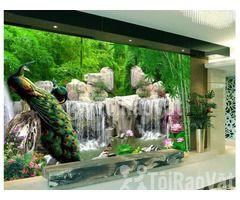 Tranh gạch men 3D- Gạch tranh ốp tường phòng khách - Hình ảnh 2/2