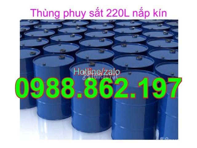 Thùng phuy cũ, thùng phuy sắt, thùng phuy 220L nắp kín, thùng phuy 220 - 4/6
