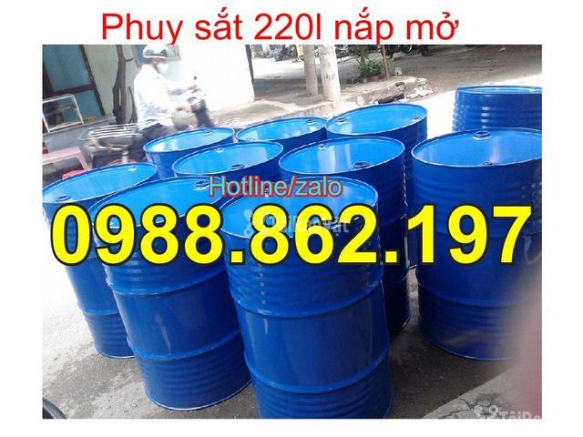 Thùng phuy cũ, thùng phuy sắt, thùng phuy 220L nắp kín, thùng phuy 220 - 6/6