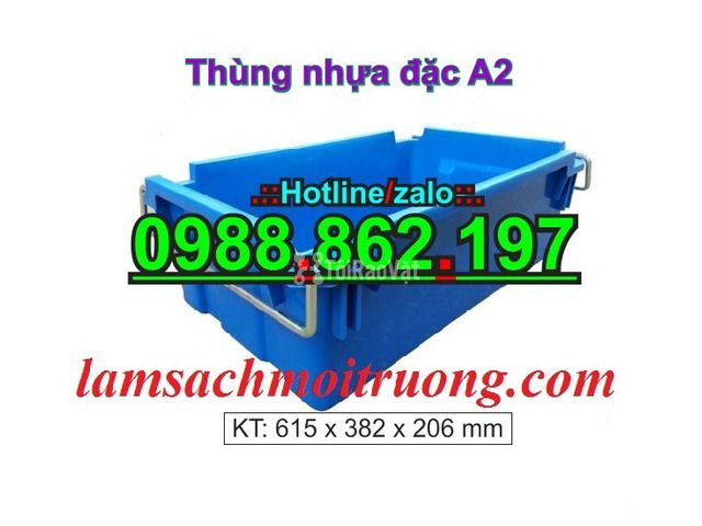 Sóng nhựa bít A2,thùng chứa A2,thùng nhựa A2,thùng nhựa đặc A2,th - 1/6