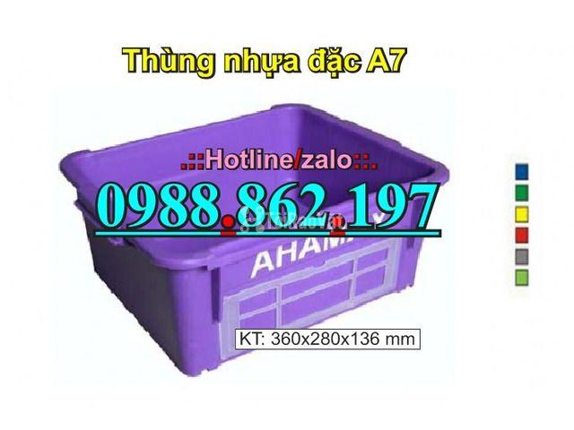 thùng nhựa A7, Khay nhựa A7,thùng nhựa đặc A7,thùng nhựa đặc giá rẻ, - 2/6