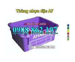 thùng nhựa A7, Khay nhựa A7,thùng nhựa đặc A7,thùng nhựa đặc giá rẻ, - Hình ảnh 2/6