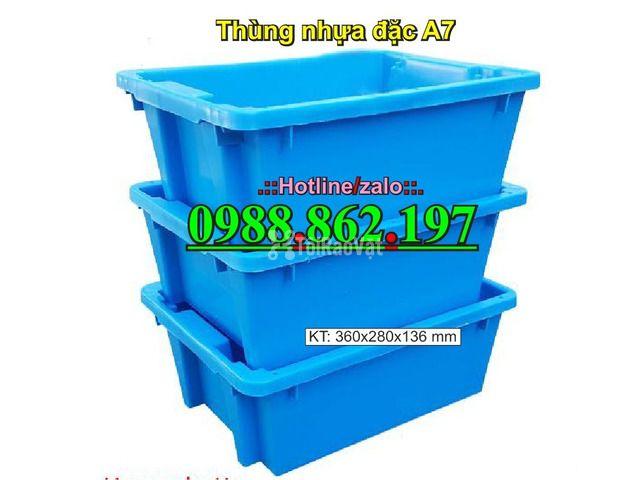 thùng nhựa A7, Khay nhựa A7,thùng nhựa đặc A7,thùng nhựa đặc giá rẻ, - 3/6