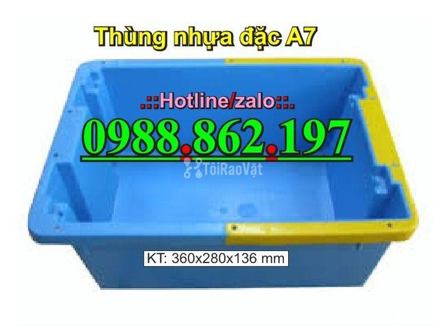 thùng nhựa A7, Khay nhựa A7,thùng nhựa đặc A7,thùng nhựa đặc giá rẻ, - 5/6