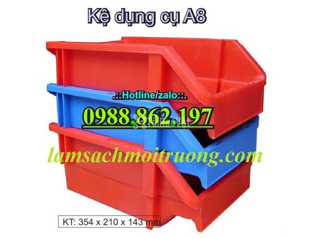 khay nhựa A8, hộp nhựa A8, khay linh kiện A8, kệ nhựa A8, khay nhựa g - 1/6