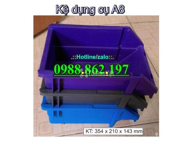 khay nhựa A8, hộp nhựa A8, khay linh kiện A8, kệ nhựa A8, khay nhựa g - 4/6