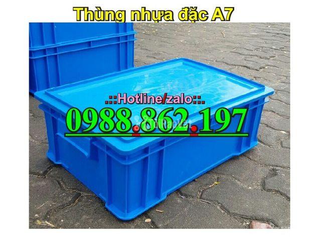 Thùng nhựa đặc B4, sóng nhựa bít b4, sóng nhựa đặc b4, thùng nhựa b4 g - 3/6