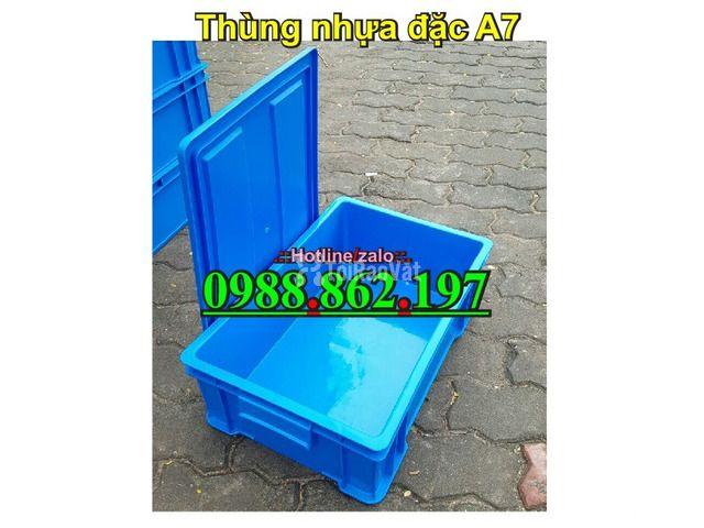 Thùng nhựa đặc B4, sóng nhựa bít b4, sóng nhựa đặc b4, thùng nhựa b4 g - 5/6