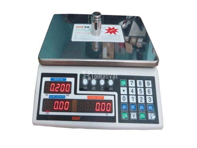 Cân tính tiền QUA 810 30kg/1g, cân tính tiền siêu thị  - 1/1