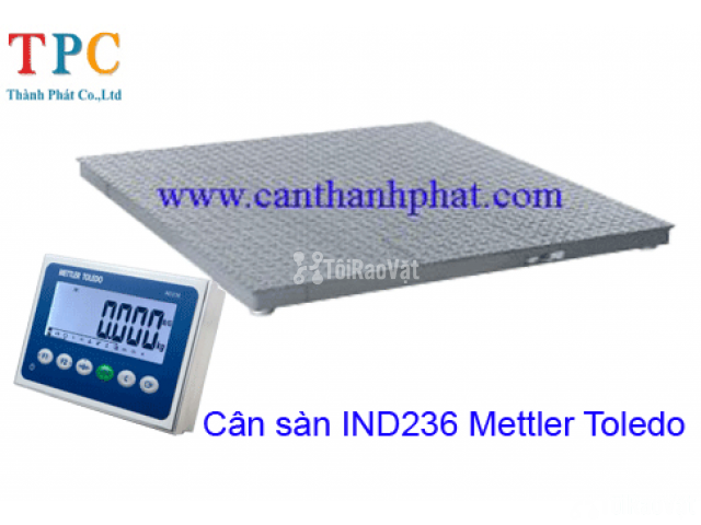 Cân sàn điện tử IND236 Mettler Toledo tải trọng 5 tấn - 1/1