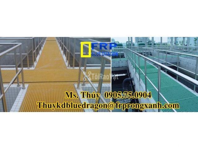 Sàn frp grating kháng hóa chất, sàn ô lưới loại isophthalic, vinyl - 4/6