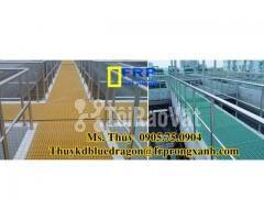 Sàn frp grating kháng hóa chất, sàn ô lưới loại isophthalic, vinyl - Hình ảnh 4/6