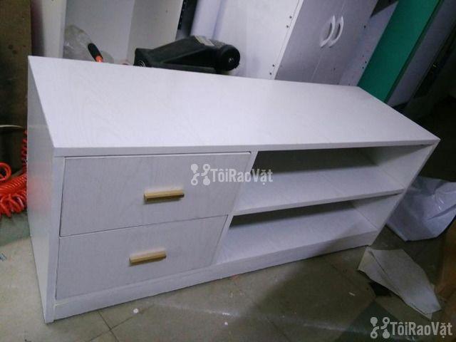 Bán tủ ti vi 1m3 màu trắng đẹp mới 100% chưa qua sử dụng - 1/1