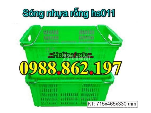 Sóng nhựa rỗng hs011, sọt nhựa quai sắt hs011, Sọt nhựa HS011 - 2/6