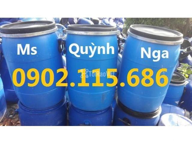 Thùng phuy nhựa 220l nắp hở,thùng phuy nhựa cũ giá rẻ,thùng phuy nhựa  - 2/2