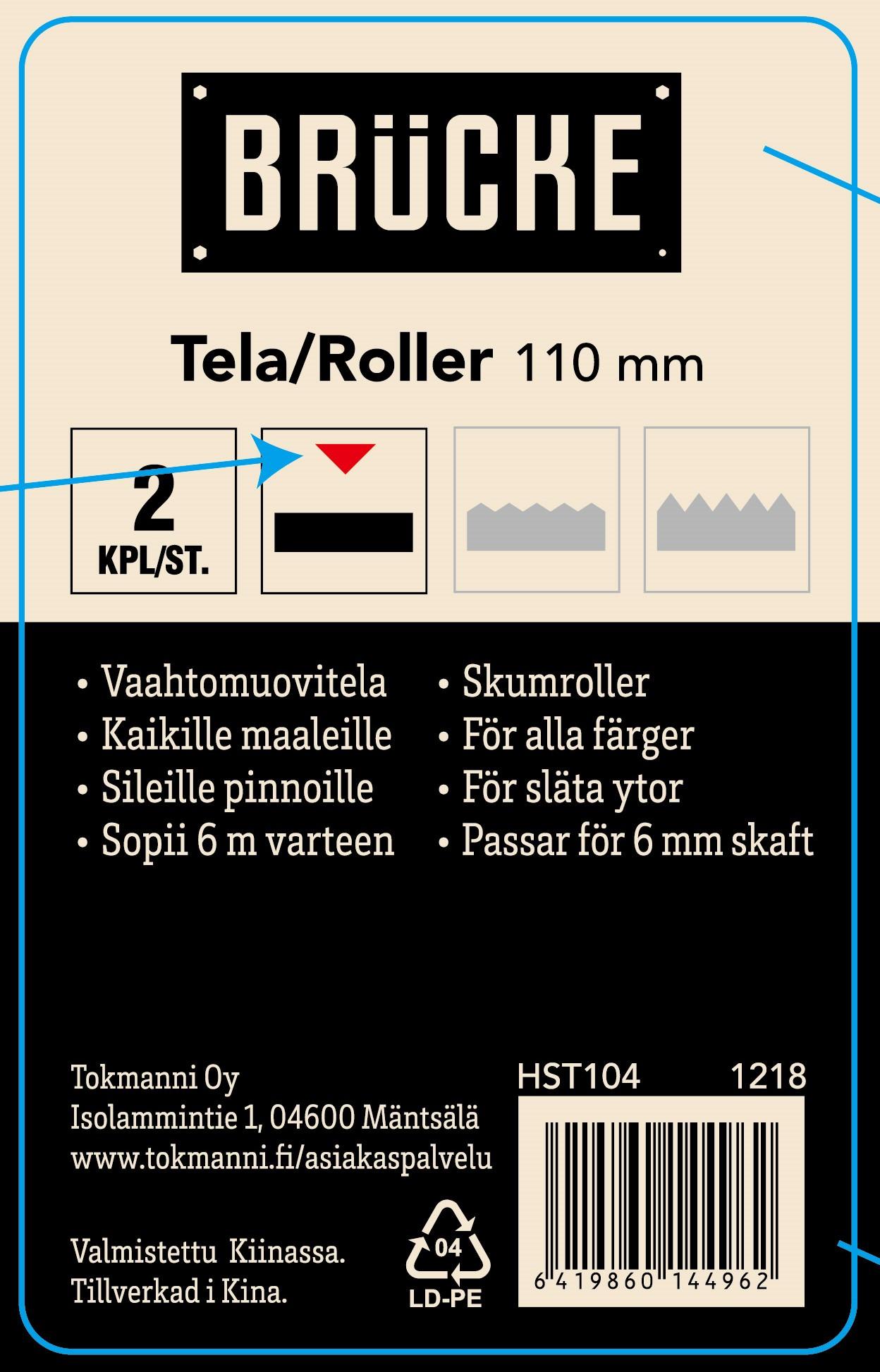 Telasetti 2 kpl 50 mm, vaahtomuovi