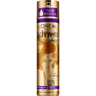Loreal Elnett Satin Hiuskiinne Precious Oil 250 ml kuiville ja  vaurioittuneille hiuksille 2d77f8d87f