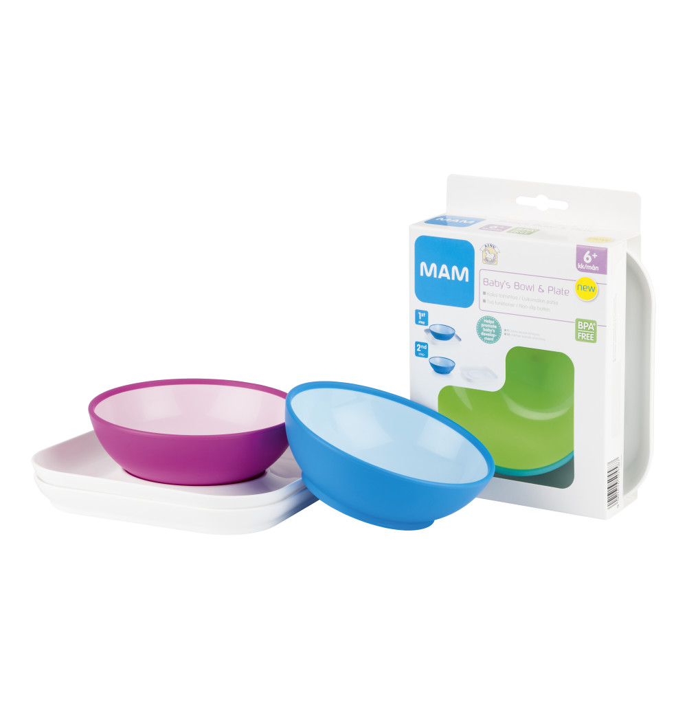 Ainu Mam Kulho ja lautanen Baby's Bowl & Plate  Lasten syöttäminen